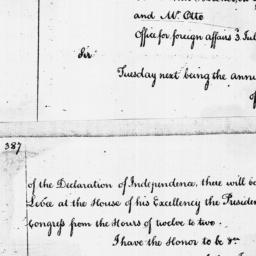 Document, 1786 July 03