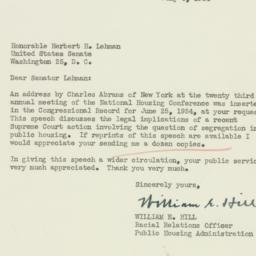 Letter : 1954 July 6