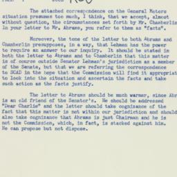 Memorandum: 1956 January 14