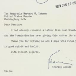 Letter : 1956 January 18