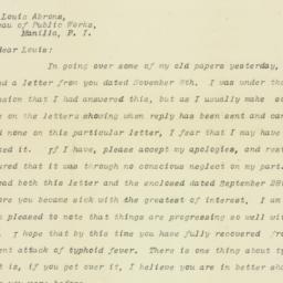 Letter : 1909 February 17