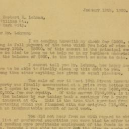 Letter : 1920 January 12