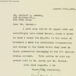Letter: 1925 August 20