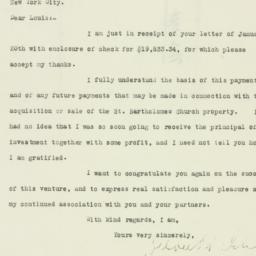 Letter: 1926 January 21