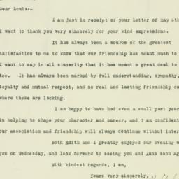 Letter: 1926 May 8