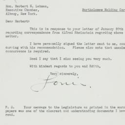Letter: 1933 January 31