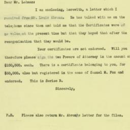 Letter: 1933 February 9