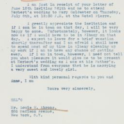 Letter: 1937 June 24