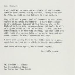 Letter: 1974 October 22