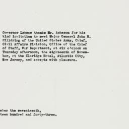 Letter: 1943 November 17