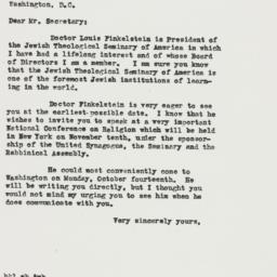 Letter: 1946 October 4