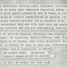 Telegram: 1946 October 11