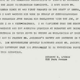 Letter: 1949 December 19