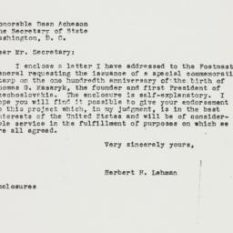 Letter: 1950 February 6