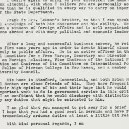 Letter: 1951 March 14