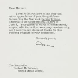 Letter: 1951 June 15