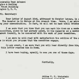 Letter: 1957 August 28