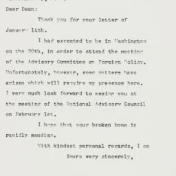 Letter: 1958 January 18