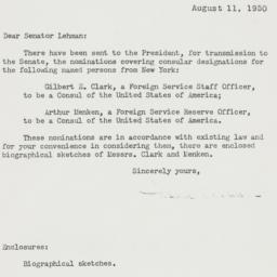 Letter: 1950 August 11