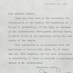 Letter: 1950 November 28