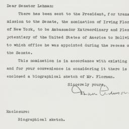Letter: 1951 January 15
