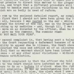 Letter : 1954 November 8