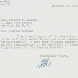 Letter: 1959 October 14