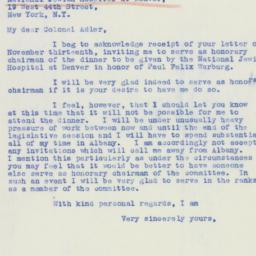Letter: 1939 November 17
