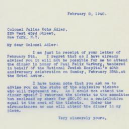 Letter : 1940 February 8