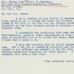 Letter : 1941 December 26