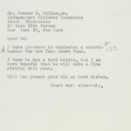 Letter: 1954 October 15