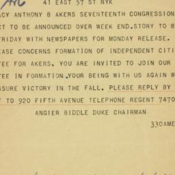Telegram: 1956 March 28
