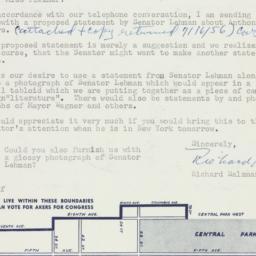 Letter : 1956 July 13