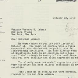 Letter : 1956 October 22