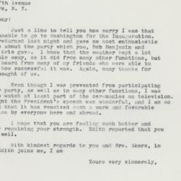 Letter: 1961 January 21