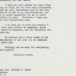 Letter: 1964 January 8