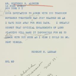Telegram: 1942 November 19