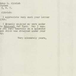 Letter: 1947 July 22