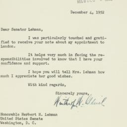 Letter: 1952 December 4