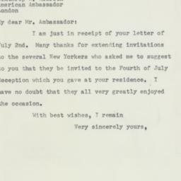 Letter: 1953 July 7