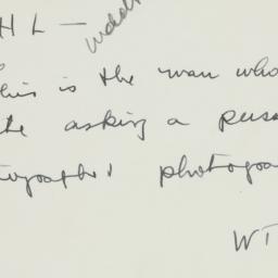 Memorandum: 1936 July 21
