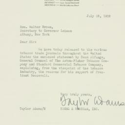 Letter : 1936 July 28