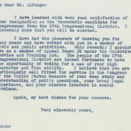 Letter : 1941 February 8