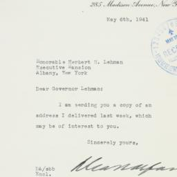 Letter: 1941 May 6