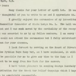 Letter : 1947 April 2