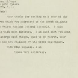 Letter: 1947 December 1