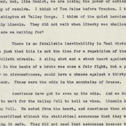 Speech : 1941 May 2