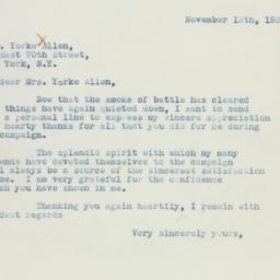Letter : 1936 November 13