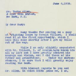 Letter : 1939 June 6