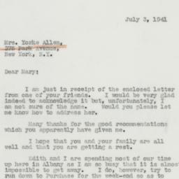 Letter: 1941 July 3